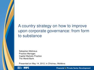 A country strategy on how to improve upon corporate governance: from form to substance