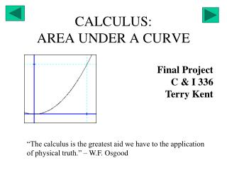 CALCULUS: AREA UNDER A CURVE