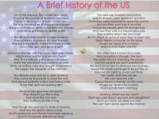 A Brief History of the US
