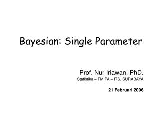 Bayesian: Single Parameter