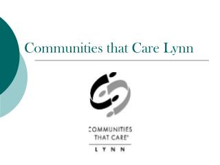 Communities that Care Lynn