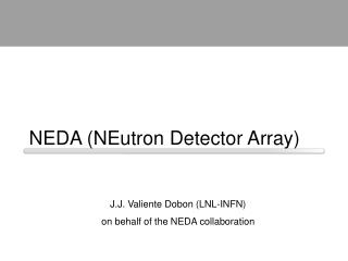 NEDA (NEutron Detector Array)