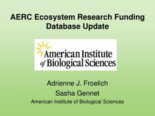 AERC Ecosystem Research Funding Database Update