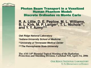 Photon Beam Transport in a Voxelized Human Phantom Model: Discrete Ordinates vs Monte Carlo