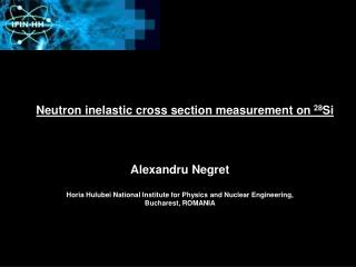 Neutron inelastic cross section measurement on  28 Si