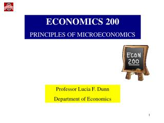 ECONOMICS 200 PRINCIPLES OF MICROECONOMICS