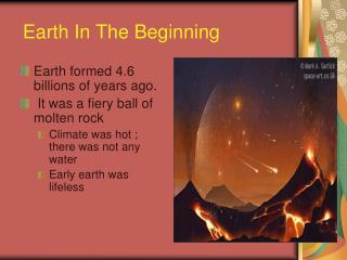 Earth In The Beginning