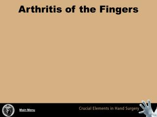 Arthritis of the Fingers