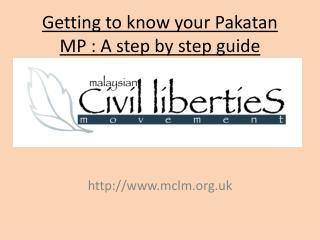 Getting to know your Pakatan MP : A step by step guide