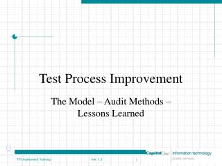Test Process Improvement