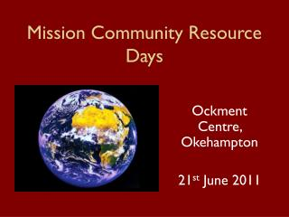 Mission Community Resource Days
