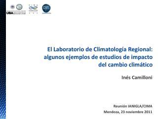 Inés Camilloni Reunión IANIGLA/CIMA Mendoza, 23 noviembre 2011