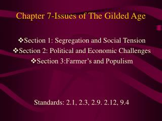 Chapter 7-Issues of The Gilded Age