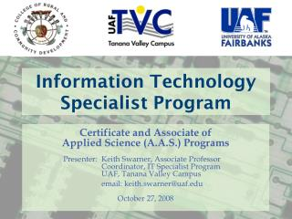 Information Technology Specialist Program