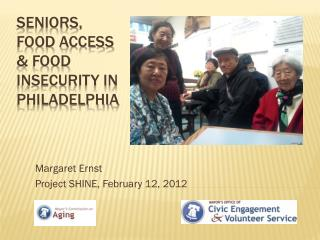 Seniors, Food Access & Food Insecurity in Philadelphia