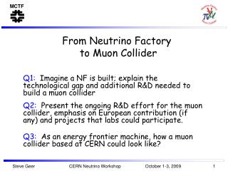 From Neutrino Factory  to Muon Collider