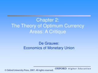 Chapter 2: The Theory of Optimum Currency Areas: A Critique