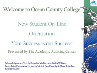 Welcome to Ocean County College