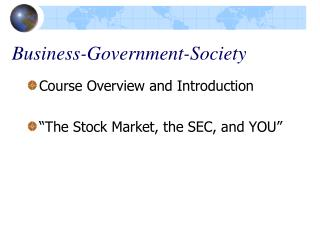 Business-Government-Society