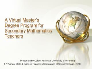 A Virtual Master's Degree Program for Secondary Mathematics Teachers