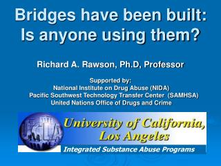 Integrated Substance Abuse Programs