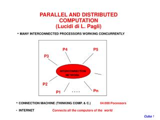 PARALLEL AND DISTRIBUTED COMPUTATION (Lucidi di L. Pagli)