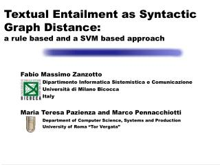 Textual Entailment as Syntactic Graph Distance:  a rule based and a SVM based approach