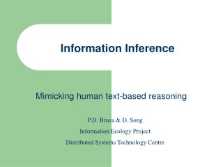 Information Inference