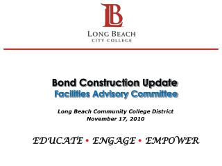 Bond Construction Update  Facilities Advisory Committee