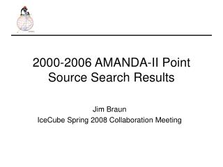 2000-2006 AMANDA-II Point Source Search Results