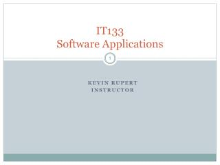 IT133 Software Applications