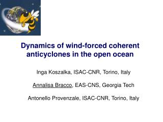 Dynamics of wind-forced coherent anticyclones in the open ocean