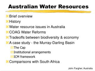 Australian Water Resources
