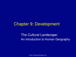 Chapter 9: Development