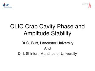 CLIC Crab Cavity Phase and Amplitude Stability