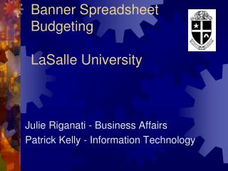 Banner Spreadsheet Budgeting LaSalle University