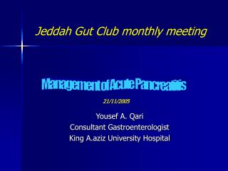Jeddah Gut Club monthly meeting