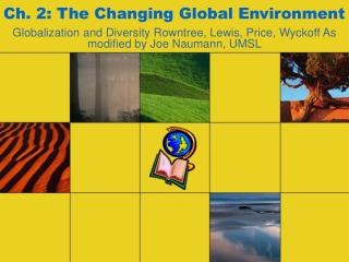 Ch. 2: The Changing Global Environment