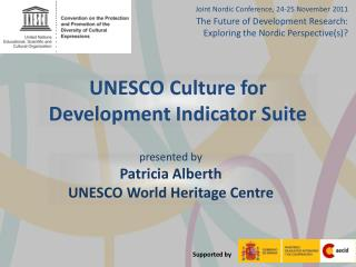 UNESCO Culture for Development Indicator Suite
