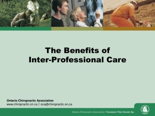 The Benefits of Inter-Professional Care