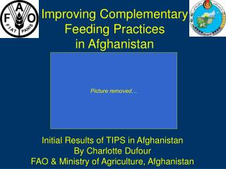 Improving Complementary Feeding Practices  in Afghanistan