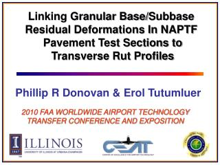 Linking Granular Base/ Subbase Residual Deformations In NAPTF  Pavement Test Sections to