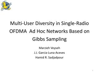 Multi-User Diversity in Single-Radio OFDMA  Ad  Hoc Networks Based on Gibbs Sampling