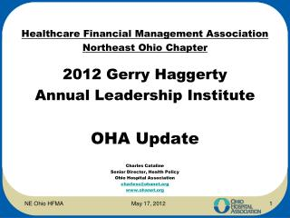 Healthcare  Financial Management  Association  Northeast Ohio Chapter 2012 Gerry Haggerty