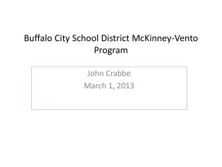 Buffalo City School District McKinney-Vento Program