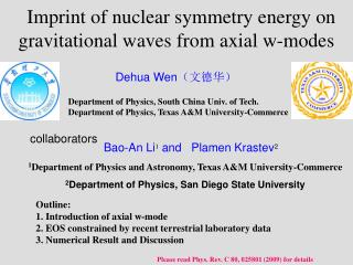 Imprint of nuclear symmetry energy on gravitational waves from axial w-modes