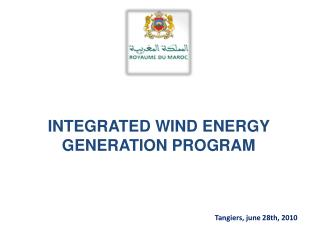 INTEGRATED WIND ENERGY GENERATION PROGRAM