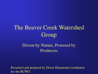 The Beaver Creek Watershed Group