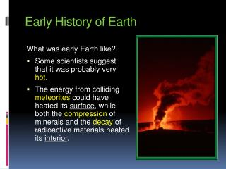 Early History of Earth