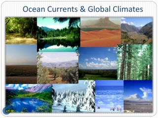 Ocean Currents & Global Climates